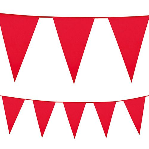 Red Plastic All-Weather Bunting - 10m