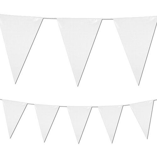 White Plastic All-Weather Bunting - 10m