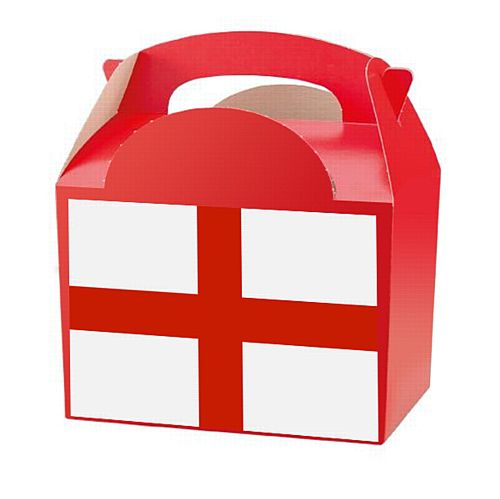 England St George's Flag Party Box Kit - Pack of 4