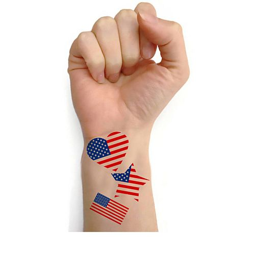 American Flag Tattoos - Sheet of 20