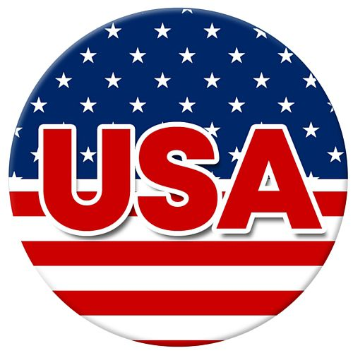 American USA Badge - 58mm - Each