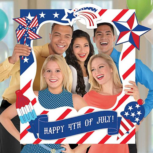 American 4th of July Giant Customisable Selfie Frame - 88cm - Set of 15