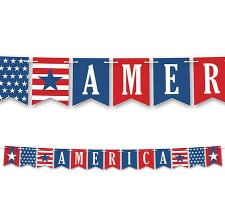 America Letter Banner Bunting - 2.4m