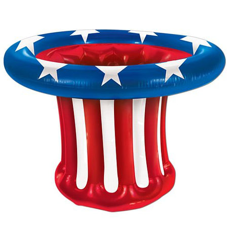 American Patriotic Giant Inflatable Hat Drinks Cooler - 69cm