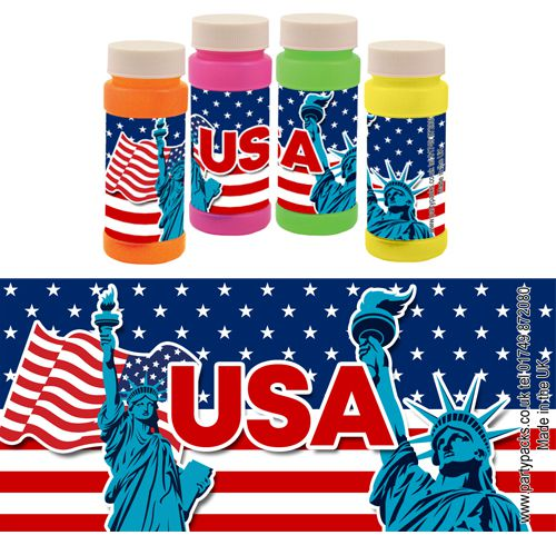 American USA Patriotic Bubbles - Pack of 6