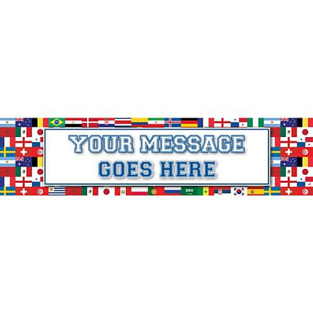International Multi Country Personalised Banner - 1.2m