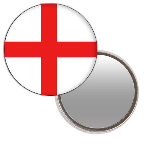 England St. George's Flag Mirror - 58mm - Each
