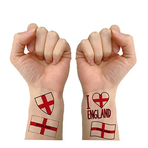 England Tattoos - Pack of 16