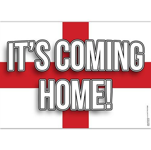 It's Coming Home Football Poster - A3