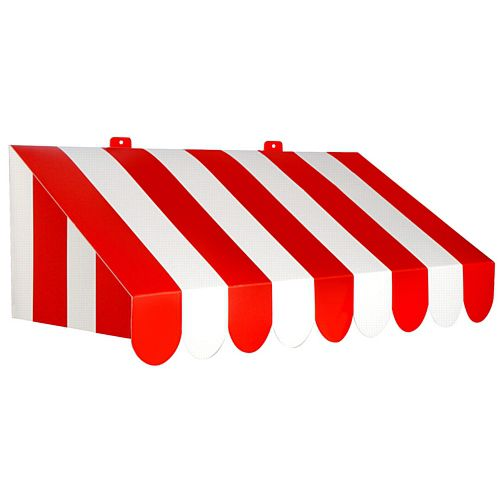 3D Red and White Awning Card Wall Decoration - 63cm