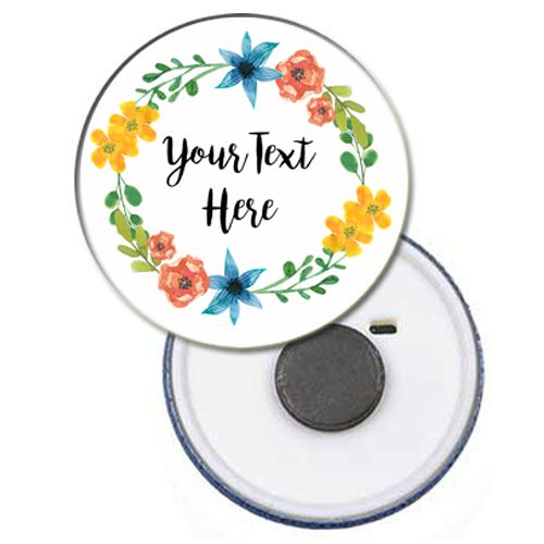 Personalised Magnet - Boho Festival - 58mm