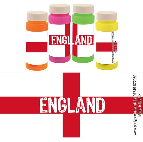 England Flag Bubbles - Pack of 6