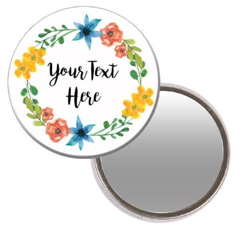 Personalised Pocket Mirror - Boho Festival