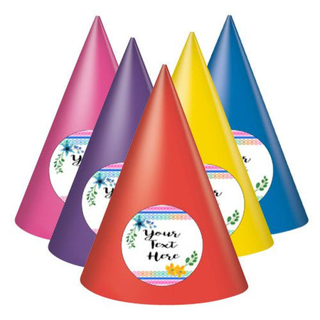Click to view product details and reviews for Boho Festival Personalised Cone Hats Pack Of 8.