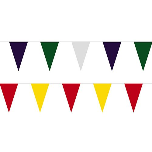 Choose Your Own Custom Colours Fabric Pennant Bunting - 24 Flags - 8m