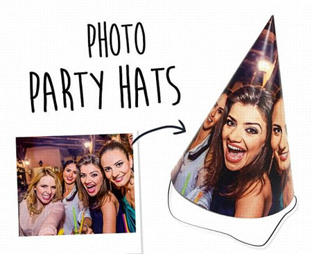 Personalised Photo Party Hats - Pack of 8