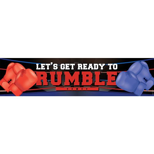 Boxing Let's Get Ready To Rumble Themed Banner - 1.2m