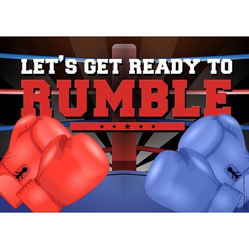 Boxing Let's Get Ready To Rumble Poster - A3