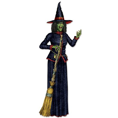 Witch Jointed Cutout Wall Decoration - 1.9m