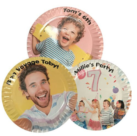 Personalised Paper Plates - Pack Of 20 - 23cm