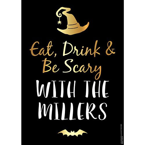 Eat, Drink and Be Scary Halloween Personalised Poster - A3