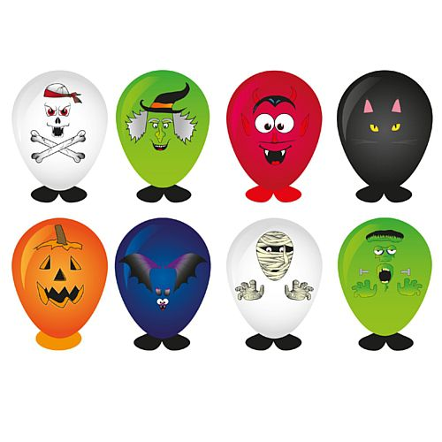 Make Your Own Halloween Head Balloon - Assorted Designs - Each