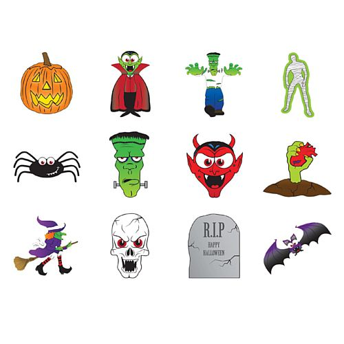 Mini Halloween Tattoos - Assorted Designs - 4cm - Pack of 6