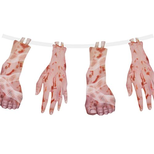 Gory Hands and Feet Garland - 1.8m