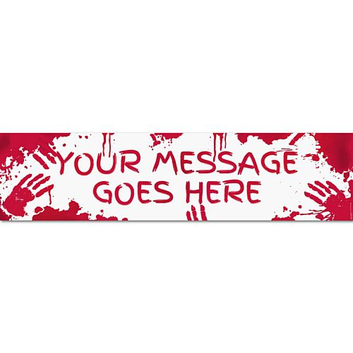 Bloody Halloween Personalised Banner - 1.2m