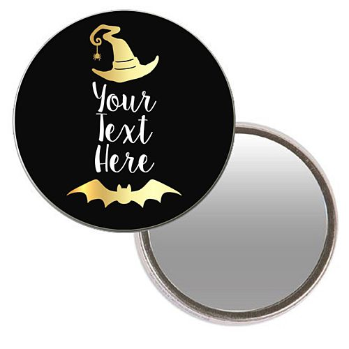 Personalised Pocket Mirror - Witch Please
