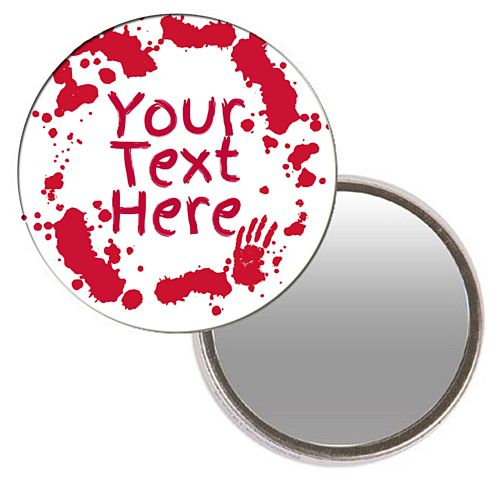Personalised Pocket Mirror - Bloody Halloween