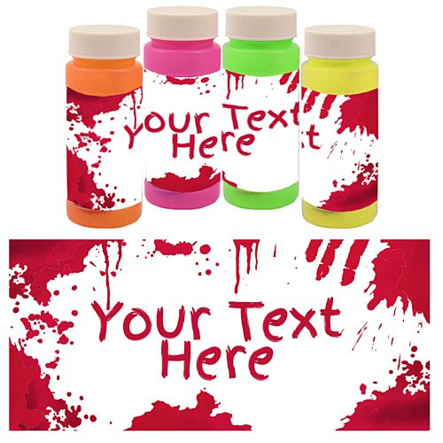 Personalised Bubbles - Bloody Halloween - Pack of 6