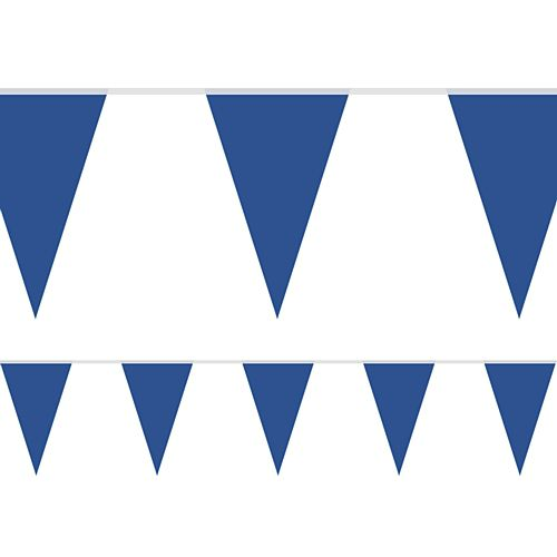 Royal Blue Fabric Pennant Bunting - 24 Flags - 8m