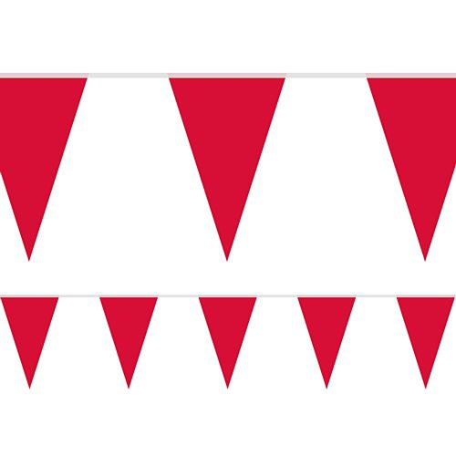 Red Fabric Pennant Bunting - 24 Flags - 8m