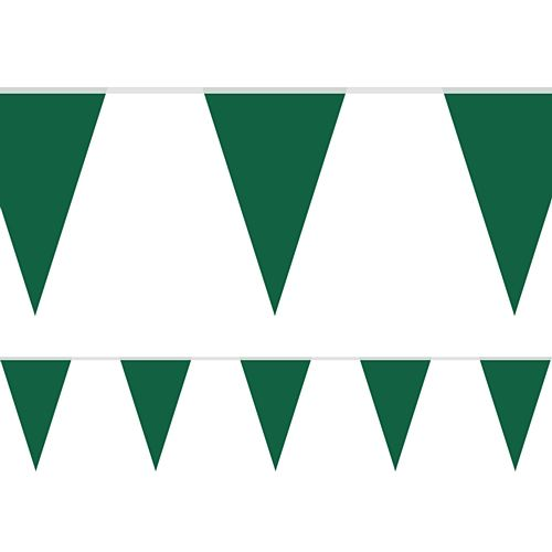 Emerald Green Fabric Pennant Bunting - 24 Flags - 8m