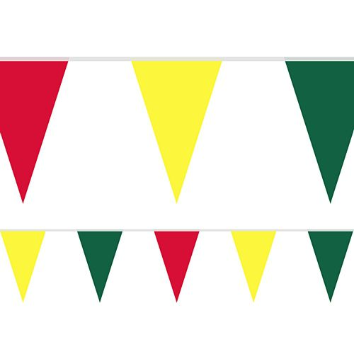 Fiesta Fabric Pennant Bunting - 24 Flags - 8m