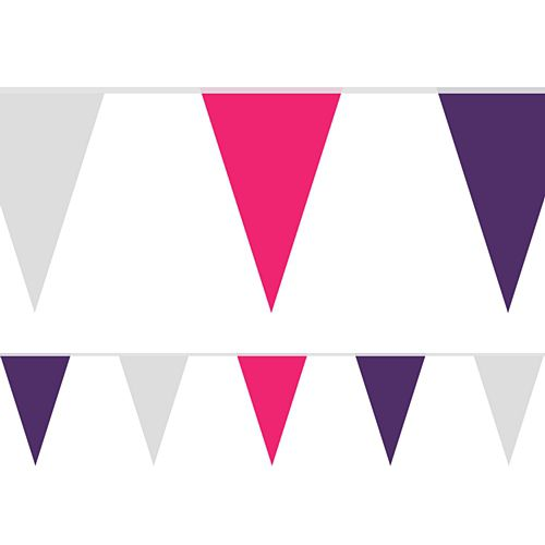 Hen Party Fabric Pennant Bunting - 24 Flags - 8m