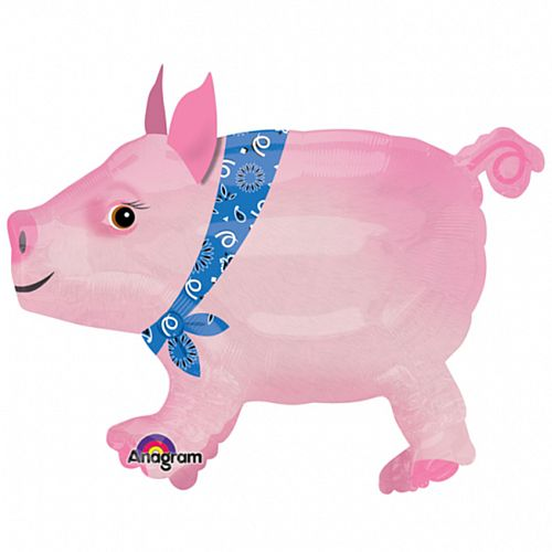 Pig AirWalker Foil Balloon - 24""