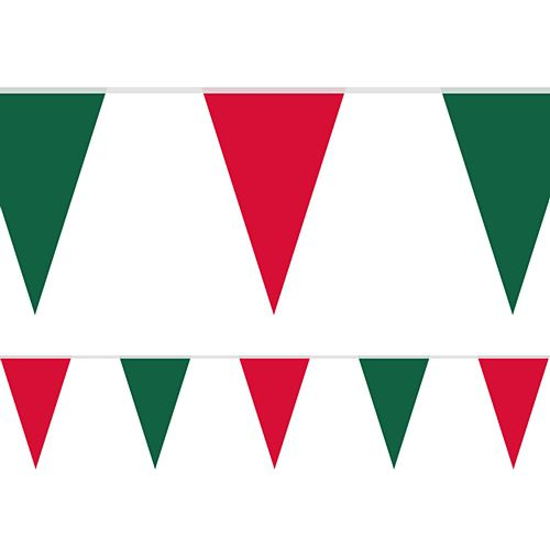 Christmas Fabric Pennant Bunting - 24 Flags - 8m