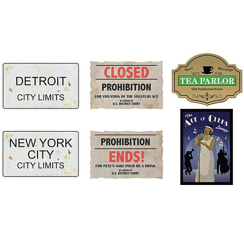 Prohibition Cutouts - 36cm - Pack of 6