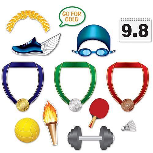 Summer Sports Photo Fun Signs - 26.7cm - Pack of 13