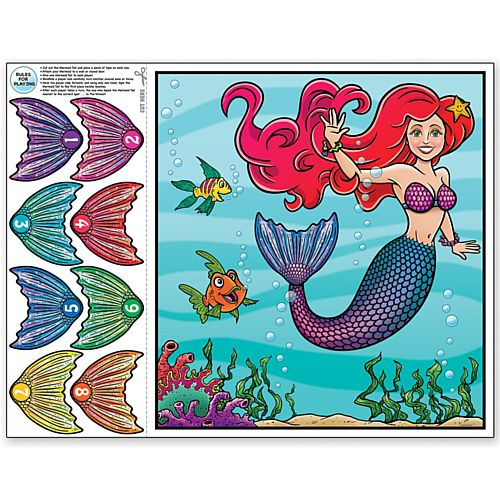 Pin the Tail on the Mermaid Game - 48.2cm