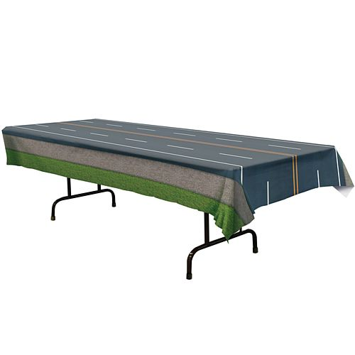Road Plastic Tablecover - 2.74m