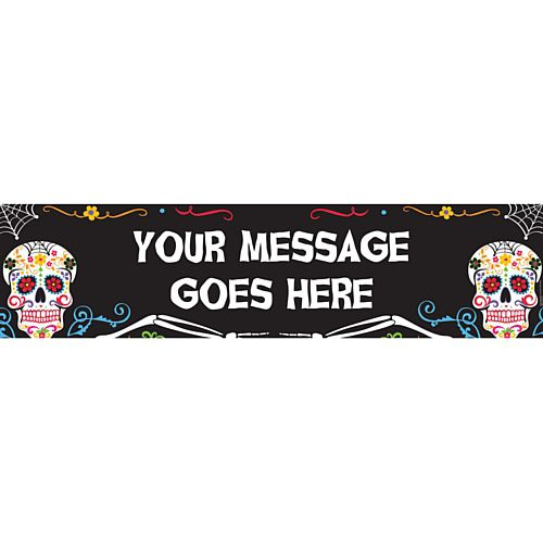 Day of the Dead Personalised Banner - 1.2m