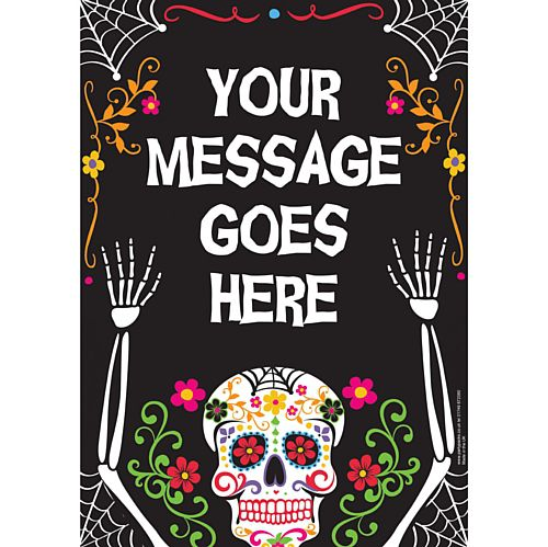 Day of the Dead Personalised Poster - A3