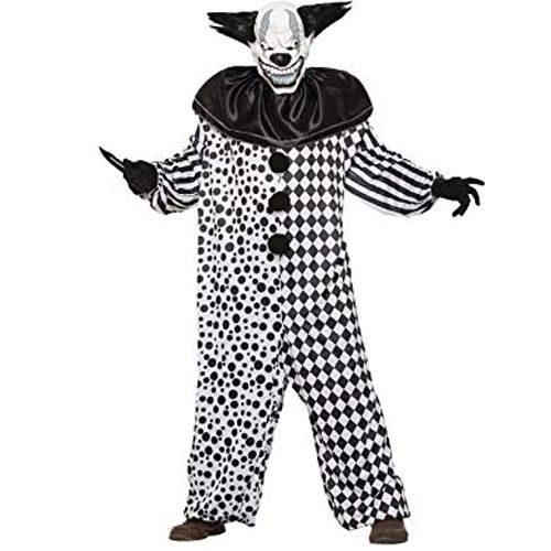 Evil Black And White Clown Costume