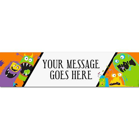 Silly Monsters Personalised Banner - 1.2m