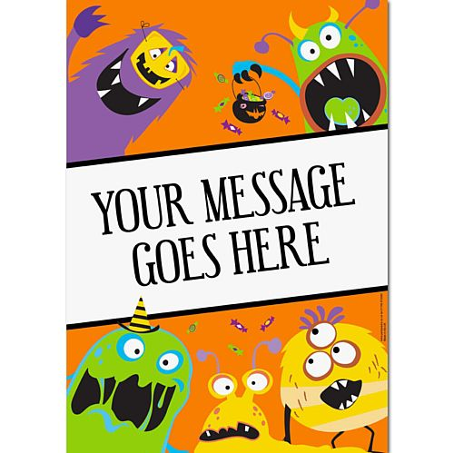 Silly Monsters Personalised Poster - A3
