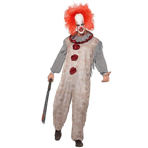 Vintage Clown Man Costume - Large