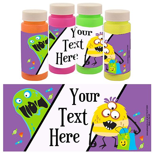 Personalised Bubbles - Silly Monsters - Pack of 6